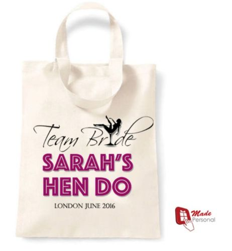 462a7dfa1250 PERSONALISED Cotton Tote Bag Gift – Team Bride Design